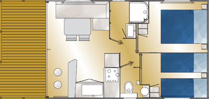 Mediterranee grundriss 2016 - Plan ouderslaapkamer met badkamer en kleedkamer ...