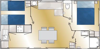 Grand large 2 grundriss 2016 - Plan ouderslaapkamer met badkamer en kleedkamer ...